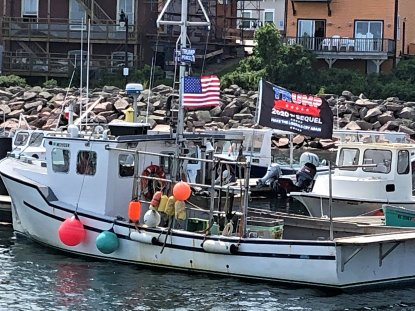 Trump supporter in marina