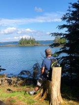 Phil relaxing at Alaska Cove