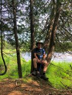 Phil relaxing on trail