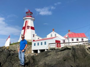 Phil at lighthouse