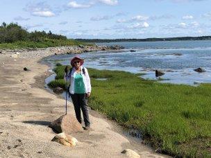 Jan on shore near Ingersoll Point