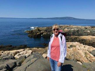 Jan overlooking Frenchman Bay