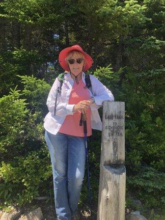 Jan at East Trail trailhead