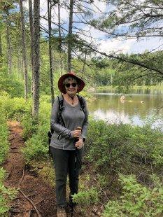 Jan at Salmon Pond