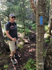 Phil at trail marker