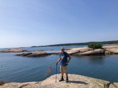 Phil on the shoreline