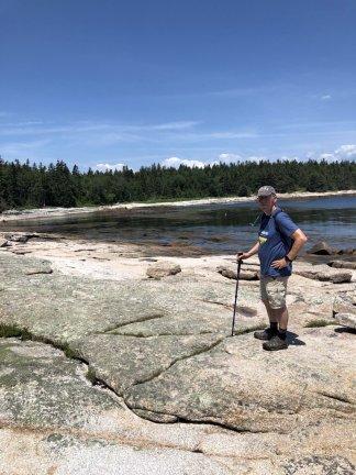 Phil on shoreline trail