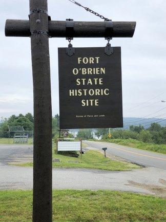 Fort O'Brien sign