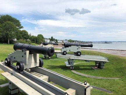 Three cannon battery