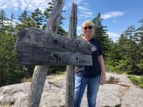 Jan at summit of Zeke's Overlook