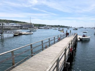 View of Boothbay Harbor from the pier