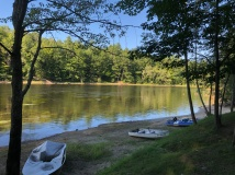 View of Saco River on edge of campground