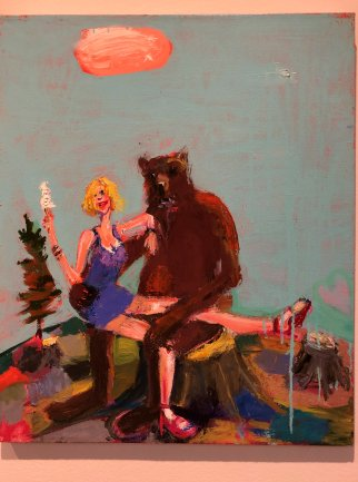 Frisbee (1987), by Will Barnet