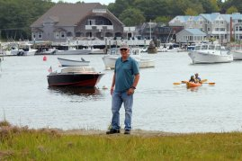 Phil on edge of Kennebunk River