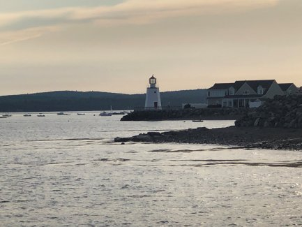 View of lighthouse on Passamaquoddy Bay