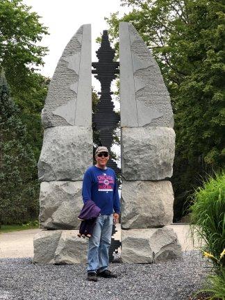 Phil at Kingbrae Garden sculpture