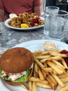 Lobster roll & fried clams at The Gables