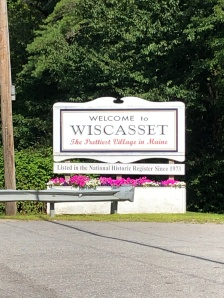 Welcome to Wiscasset sign