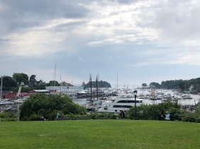 View of Camden harbor from Public Library