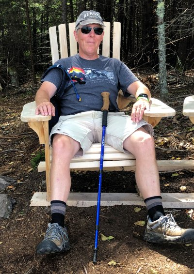 Phil relaxing on Perimeter Trail