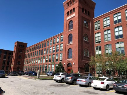 Restored textile mill, now home of Cabot Mill Antiques