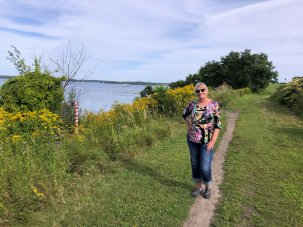 Jan on Eastern Promenade Trail
