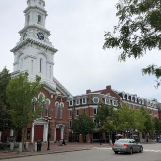 North Church, built in 1657. George Washington attended a service here in 1789.