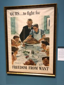 """Freedom from Want,"" one of the Four Freedoms paintings"