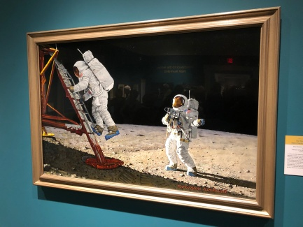 Painting of moon landing