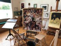 Inside Roxkwell's studio