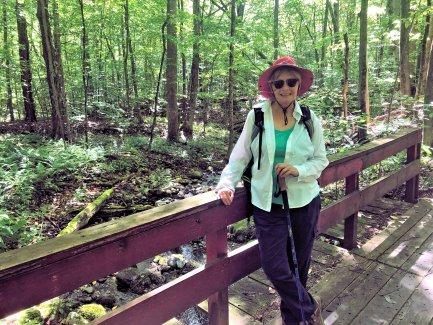 Jan on trail