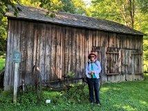 Jan at Buxton Farms barn