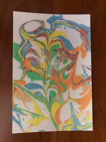 Our paper marbling artwork