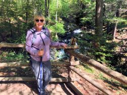 Jan at Pennell Falls