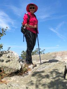 Jan at Wolf Rocks
