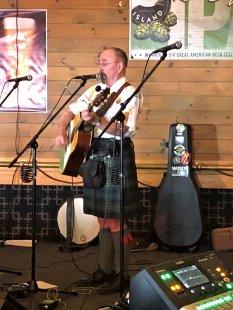 Seamus Kennedy performing on Irish Pub stage