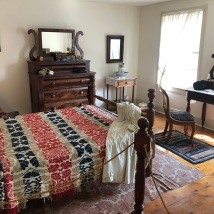 Master bedroom at Shriver House
