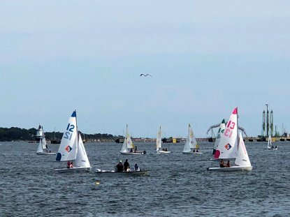 Sailboats on Casco Bay