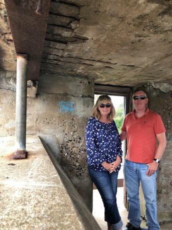 Jan and Phil in gun battery observation deck