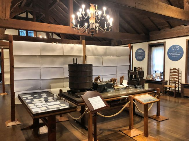 Exhibit showing historic papermaking process