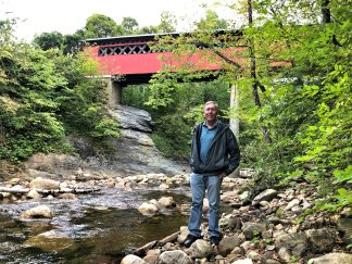 Phil at Chiselville Bridge