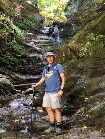 Phil at waterfall