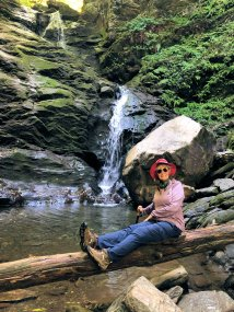Jan at waterfall