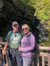 Phil & Jan at Bridesmaid's Falls