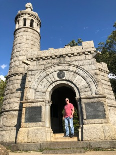 Phil at memorial to 44th NY Infantry