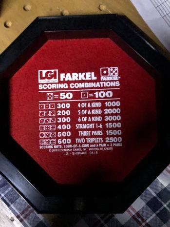 Farkle scoring combinations