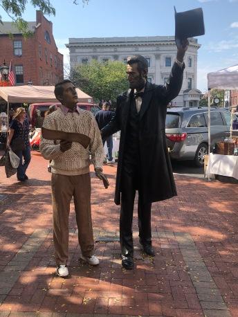 Statue on Lincoln Square
