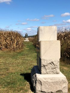 Monuments in cornfield