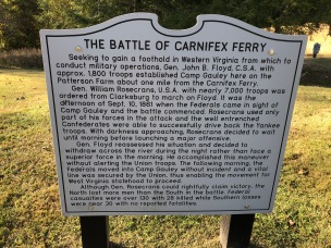 Battle of Carnifex Ferry sign