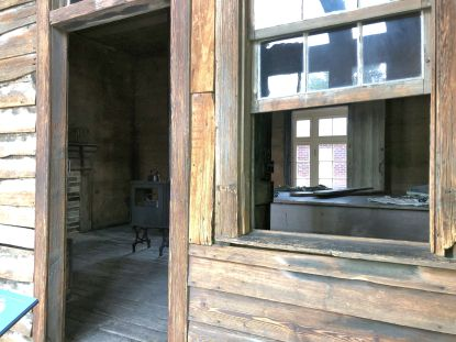 Inside the original tailor shop